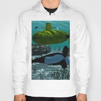 yellow submarine Hoodies featuring Submarine by nicky2342