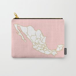 Pink Mexico map Carry-All Pouch