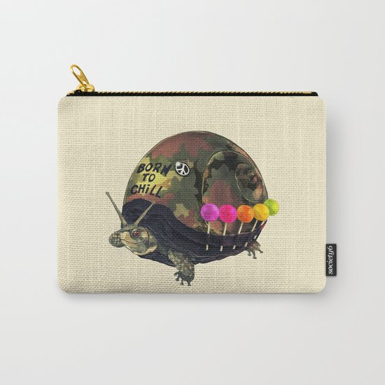 """""""Born to Chill"""" Full Metal Snail Turtle Carry-All Pouch"""