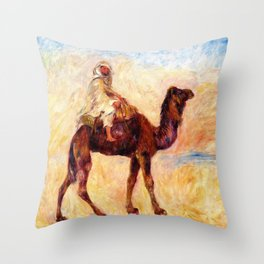 On Camel Back - Digital Remastered Edition Throw Pillow