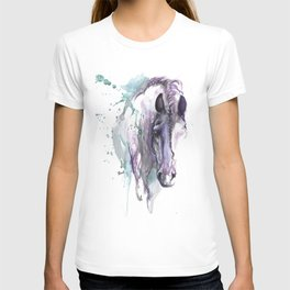horse with braided mane T-shirt