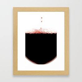 Glass of red wine Framed Art Print