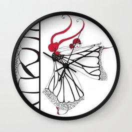 Katharina- Lady butterfly Wall Clock