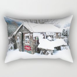 Rustic Shed Snowday Rectangular Pillow