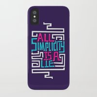 risa rodil iPhone & iPod Cases featuring All Simplicity is a Lie by Risa Rodil