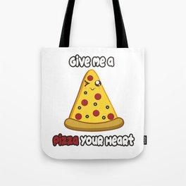 Pizza Heart Tote Bag