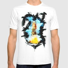 Twelve Crows MEDIUM White Mens Fitted Tee