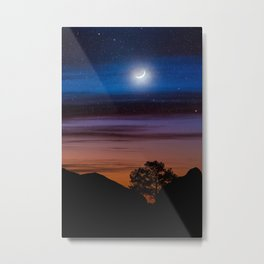 Big Bend Moon Metal Print