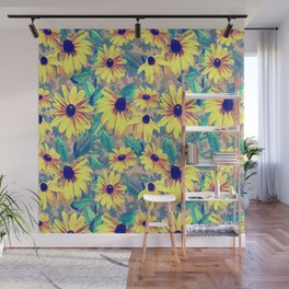 Black-Eyed Susan Pattern 2 Wall Mural