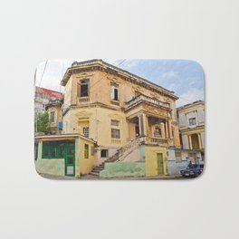 Cuba Funky House Havana Architecture Old Building Cuban Island Urban City Spain Colorful Bath Mat