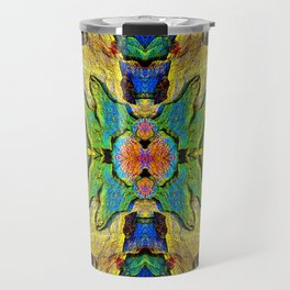 Colorful  Nature Wood Pattern Psychedelic Art Travel Mug