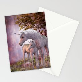 Enchanted Unicorns Stationery Cards
