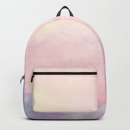 Pastel Clouds Pink and Blue Print Backpack