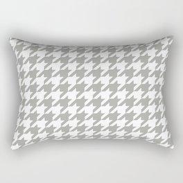 Houndstooth Checkered Grey & White Pattern Rectangular Pillow