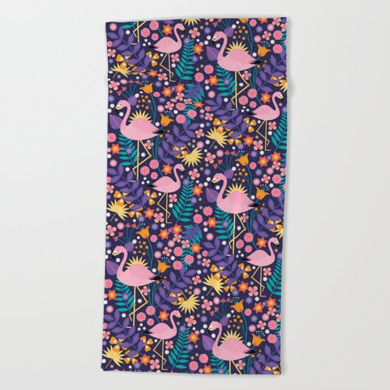 Flamingo Tropical Beach Towel