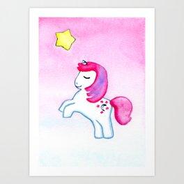WISH UPON A STAR / MOON DANCER THE UNICORN / MY LITTLE PONY Art Print