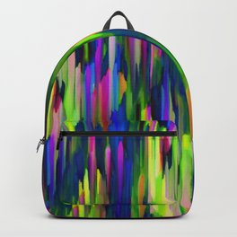 Colorful digital art splashing G256 Backpack
