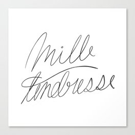 mille tendresse Canvas Print