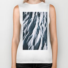 Arctic Glacial Pattern from above - Landscape Photography Biker Tank