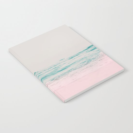 Vintage Pastel Ocean Waves Notebook