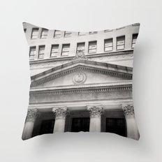 Federal Reserve Bank of Chicago Black and White Throw Pillow