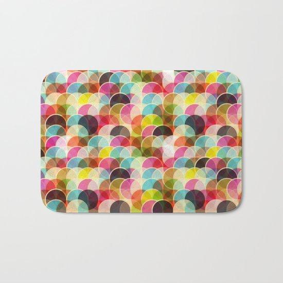 Circle Colorful Bath Mat