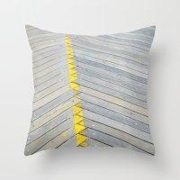 boardwalk empire Throw Pillows featuring BOARDWALK by TMCdesigns
