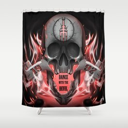 1992 devils Shower Curtain