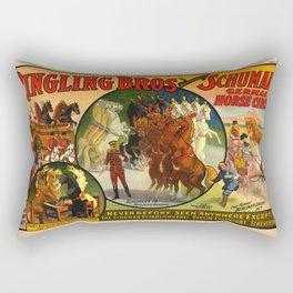 Barnum & Bailey horse poster Rectangular Pillow