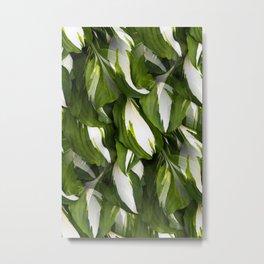Beautiful Variagated Green Leaves Nature #decor #society6 #buyart Metal Print
