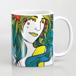 Peacock Hair Coffee Mug