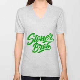STONER BROS RETRO Marijuana Gifts For Stoner 420 Unisex V-Neck