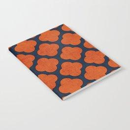 navy and orange clover Notebook