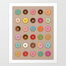 Colorful Doughnuts Art Print