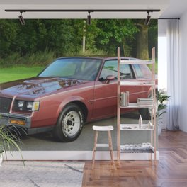 Rare 1987 GM Rose colored Grand National Regal T-Type Turbo Wall Mural