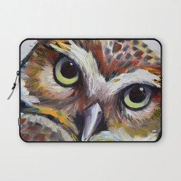 Burrowing Owl Palette Knife Painting in Oil by Award Winning San Francisco Bay Artist Lisa Elley Laptop Sleeve