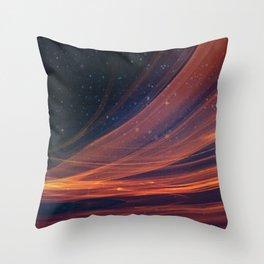 Star Streaks Throw Pillow