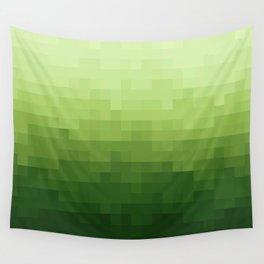 Gradient Pixel Green Wall Tapestry
