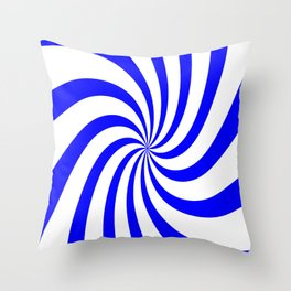 Spiral (Classic Blue & White Pattern) Throw Pillow