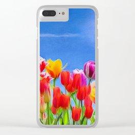 Tulip Sunshine | vivid oil painting Clear iPhone Case