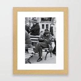 Sleeping in Traffic Framed Art Print