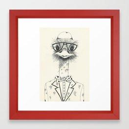 Mr. Ostrich Framed Art Print