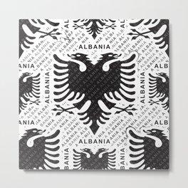 Albanian flag pattern 3 Metal Print