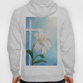 Easter Lilly Cross Hoody