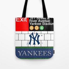 NYC Yankees Subway Tote Bag