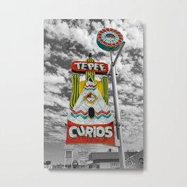 Tepee Curios Tourist Trap Tucumcari New Mexico Route 66 Vintage Neon Metal Print