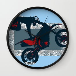 Flying Freestyle Moto-x Champ Wall Clock