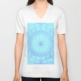 Mandala blue Unisex V-Neck