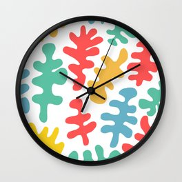 coral by the sea Wall Clock