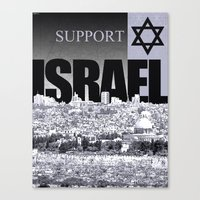 israel Canvas Prints featuring Support Israel by politics